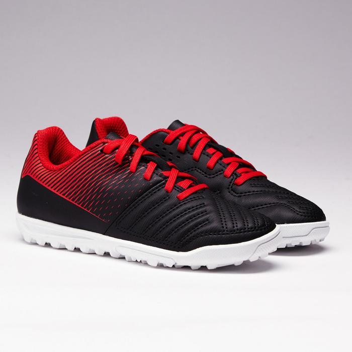 Chaussure de football enfant terrains durs Agility 100 HG noire blanche rouge - 1352505