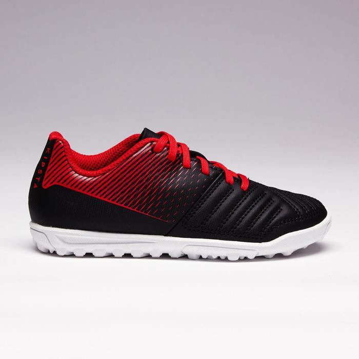 Chaussure de football enfant terrains durs Agility 100 HG noire blanche rouge - 1352506