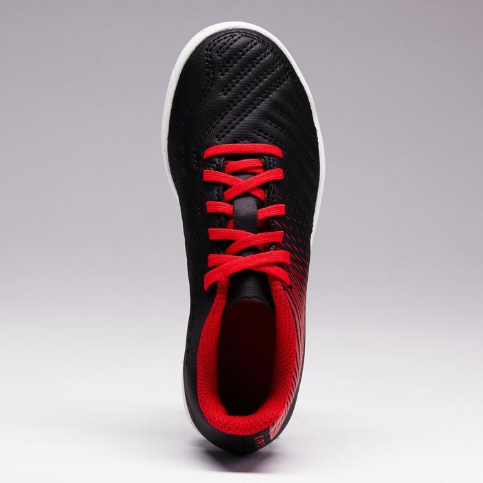 Chaussure de football enfant terrains durs Agility 100 HG noire blanche rouge