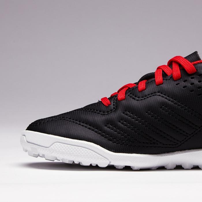 Chaussure de football enfant terrains durs Agility 100 HG noire blanche rouge - 1352511