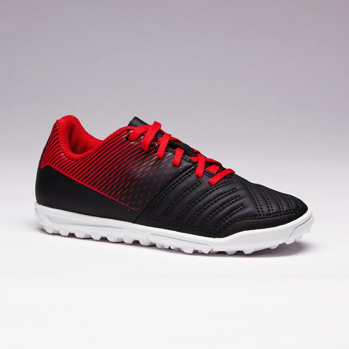 Chaussure de football enfant terrains durs Agility 100 HG noire blanche rouge - 1352512
