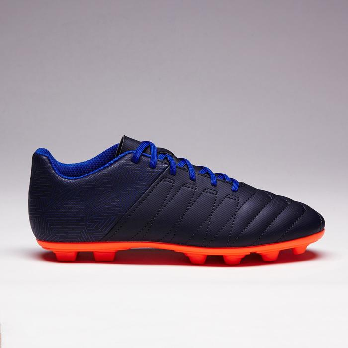 Chaussure de football enfant terrain sec Agility 140 FG bleue orange