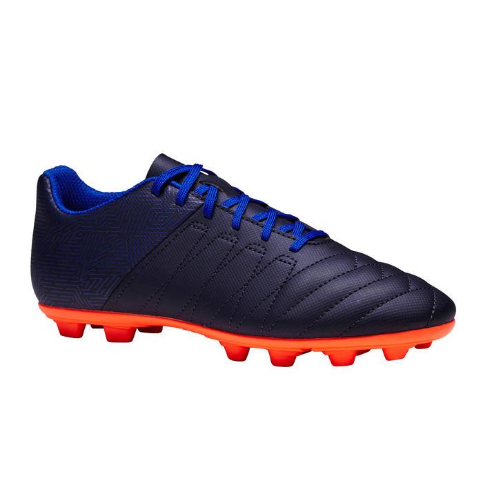 Fußballschuhe Nocken Agility 300 FG Trockenböden Kinder blau/orange