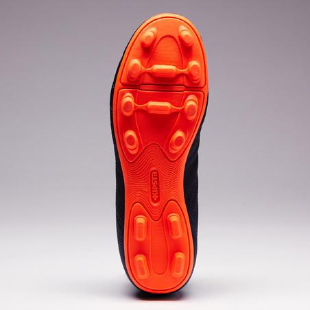 Sepatu Sepak Bola di Tanah Keras Agility 140 FG Anak-anak - Biru/Jingga