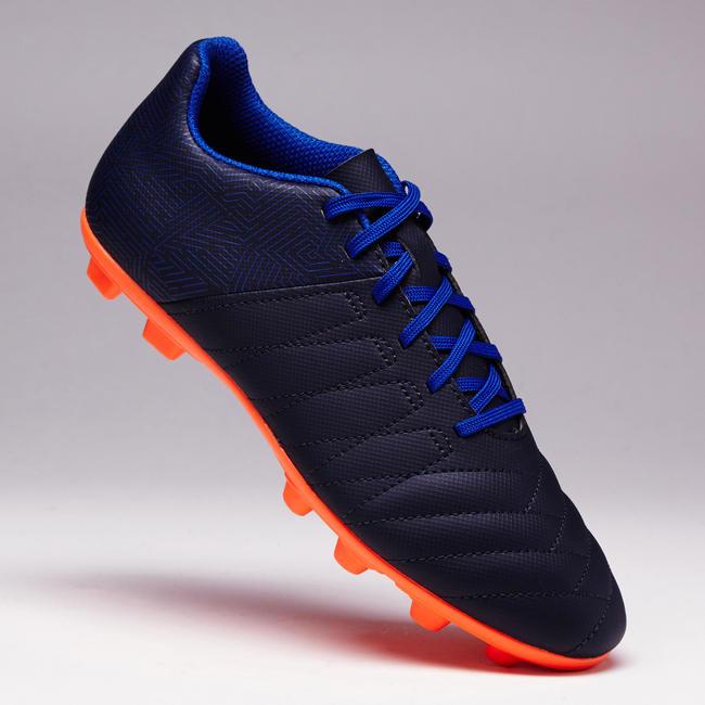 Agility 140 FG Kids' Firm Ground Football Boots - Blue/Orange