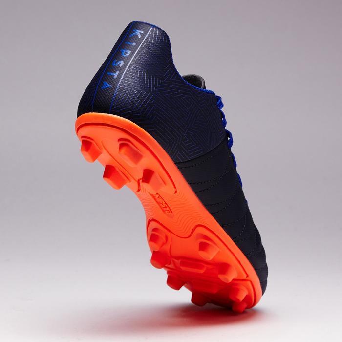 Fußballschuhe Nocken Agility 140 FG Trockenböden Kinder blau/orange