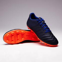 Chaussure de football enfant terrain sec Agility 140 FG bleue orange