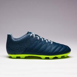 Chaussure de football enfant terrain sec Agility 140 FG verte jaune
