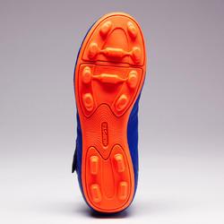 Agility 140 FG Kids' Dry Pitch Rip-Tab Soccer Cleats - Blue/Orange