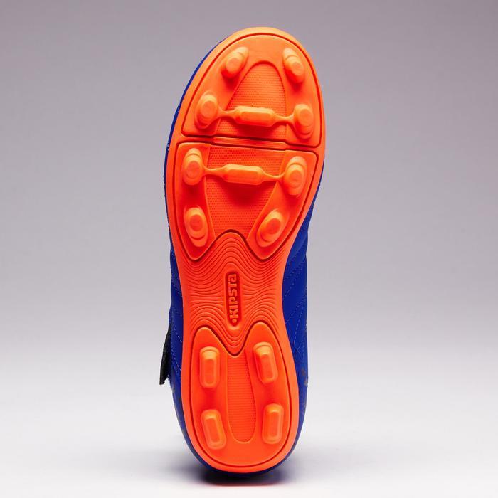 Chaussure de football enfant terrains secs Agility 300  FG à scratch bleue - 1352550