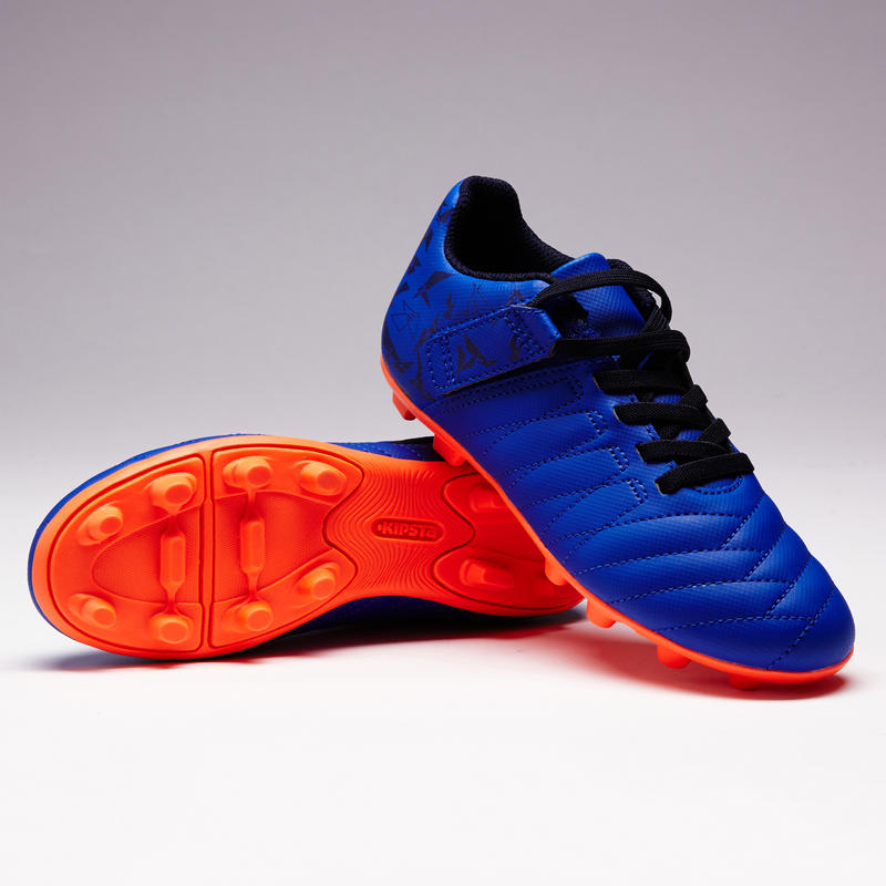 Kids' Football Boots Rip-Tab Agility 140 FG - Blue/Orange