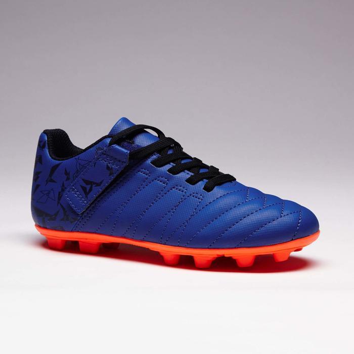 Chaussure de football enfant terrains secs Agility 300  FG à scratch bleue - 1352553