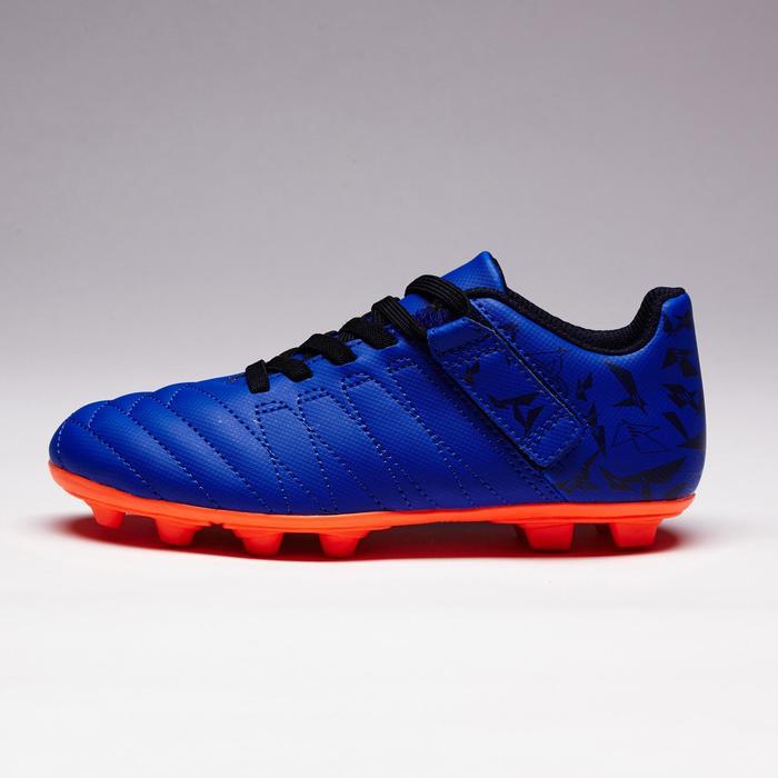 Chaussure de football enfant terrains secs Agility 300  FG à scratch bleue - 1352554