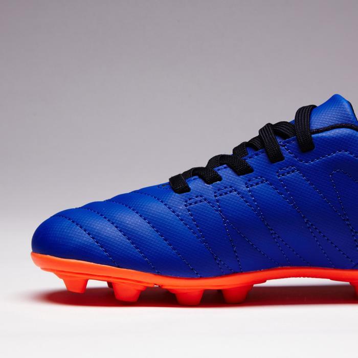 Chaussure de football enfant terrains secs Agility 300  FG à scratch bleue - 1352555
