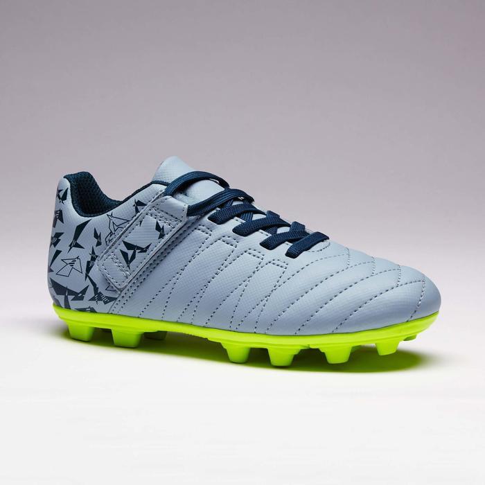 Chaussure de football enfant terrains secs Agility 300  FG à scratch bleue - 1352561