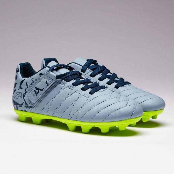 Chaussure de football enfant terrains secs Agility 300  FG à scratch bleue - 1352562