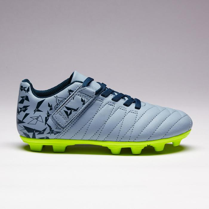 Chaussure de football enfant terrains secs Agility 300  FG à scratch bleue - 1352563