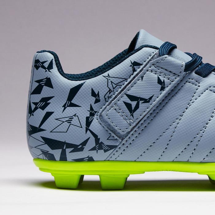 Chaussure de football enfant terrains secs Agility 300  FG à scratch bleue - 1352564