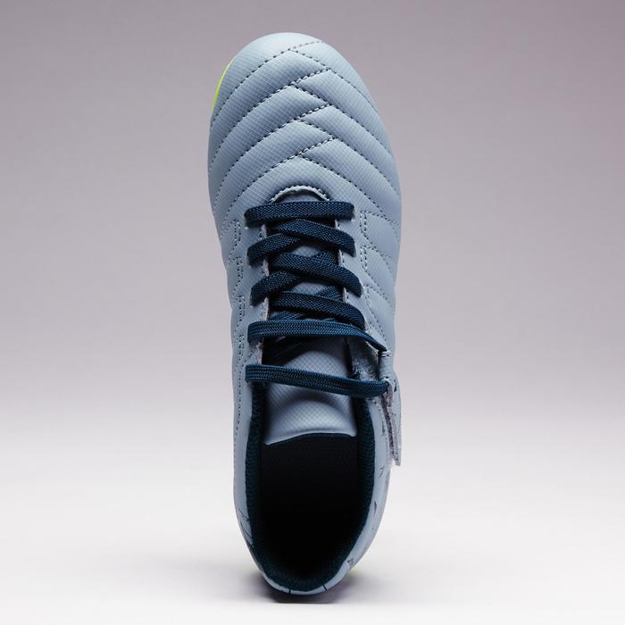 Chaussure de football enfant terrains secs Agility 300  FG à scratch bleue - 1352565