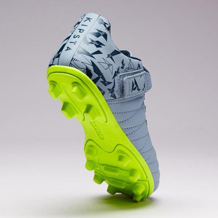 Chaussure de football enfant terrains secs Agility 300  FG à scratch bleue - 1352566