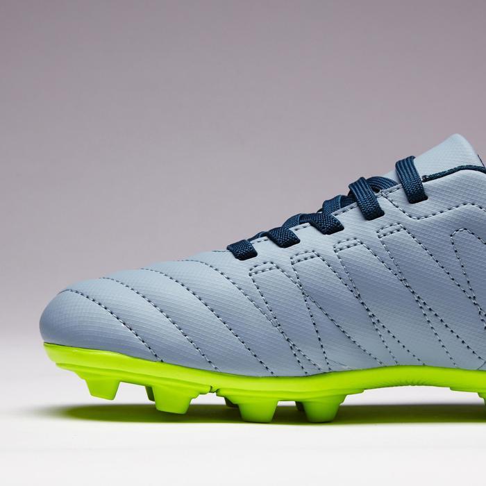 Chaussure de football enfant terrains secs Agility 300  FG à scratch bleue - 1352568