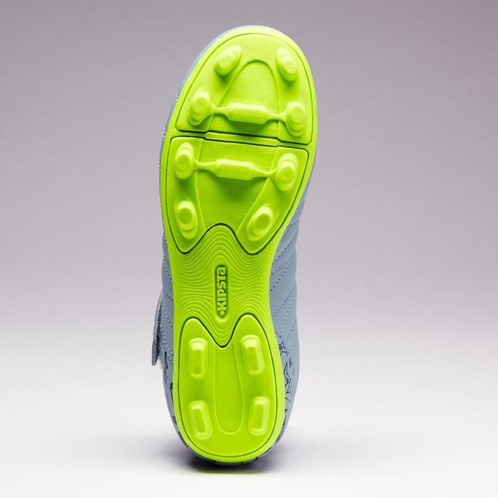 Chaussure de football enfant terrains secs Agility 300  FG à scratch bleue - 1352570