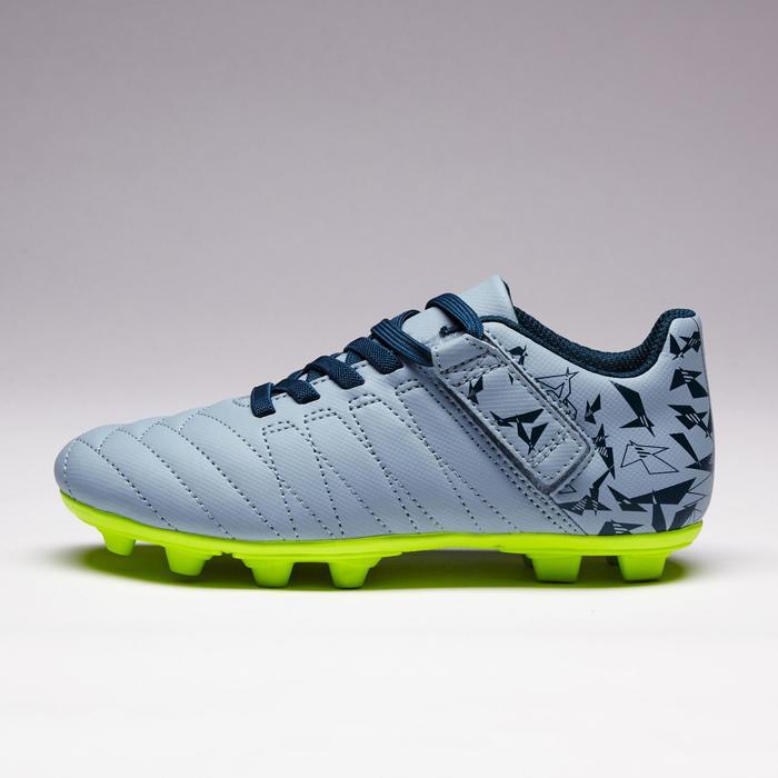 Chaussure de football enfant terrains secs Agility 300  FG à scratch bleue - 1352571