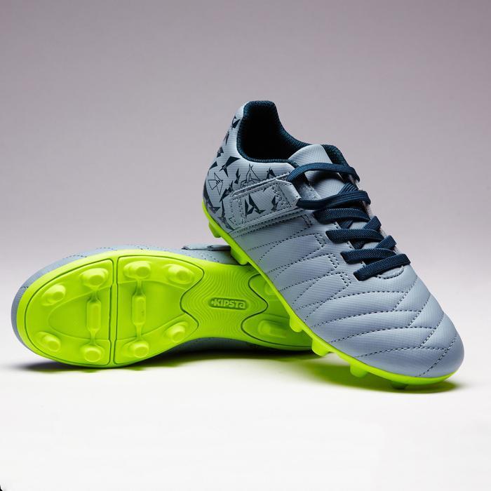 Chaussure de football enfant terrains secs Agility 300  FG à scratch bleue - 1352574