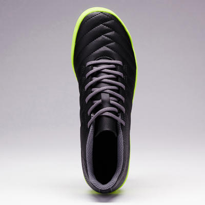 Chaussure de football enfant terrain dur Agility 140 HG noire jaune