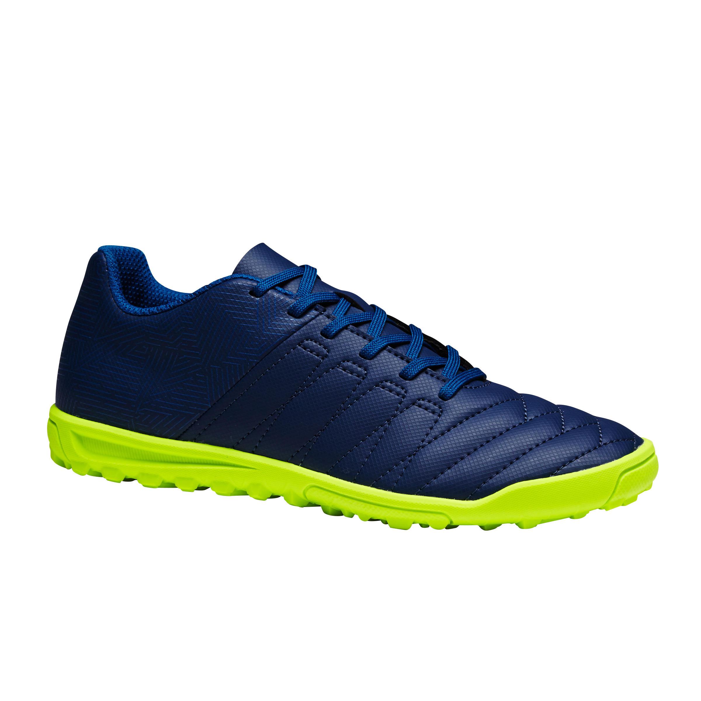 Kipsta Voetbalschoenen kind Agility 300 HG blauw/groen