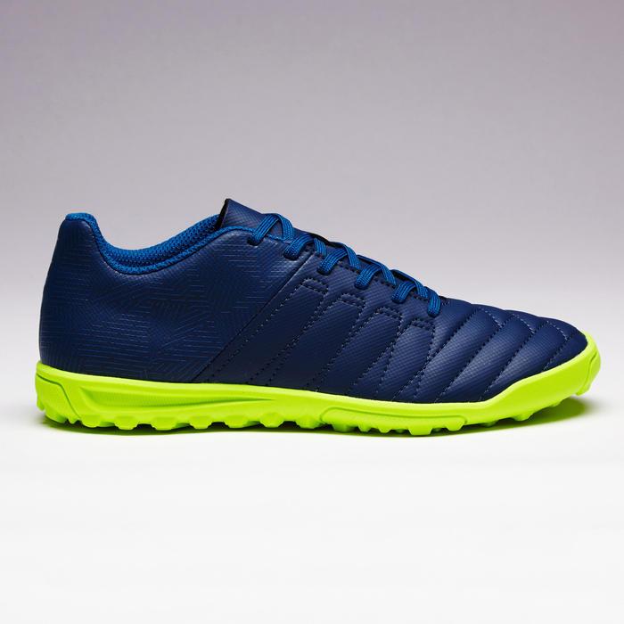 兒童款人造草足球鞋AGILITY 140 HG-藍色/黃色
