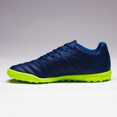 Chaussure de football enfant terrain dur Agility 140 HG bleue jaune