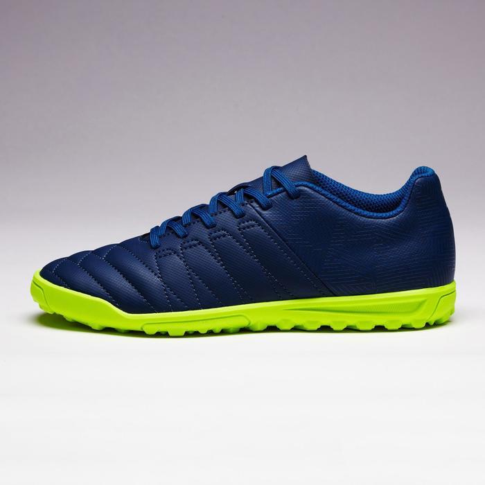 Chaussure de football enfant terrains durs Agility 300 HG France bleue verte