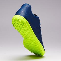 Botas de fútbol júnior terrenos duros Agility 140 HG azul amarillo