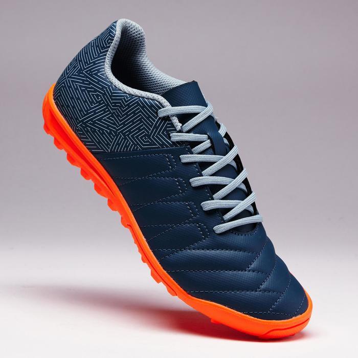 Voetbalschoenen voor kinderen Agility 140 HG voor hard terrein grijs-oranje