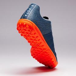 Chaussure de football enfant terrain dur Agility 140 HG grise orange