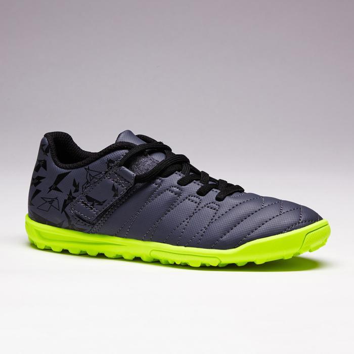 Chaussure de football enfant terrains durs Agility  300 HG à scratch bleue - 1352617