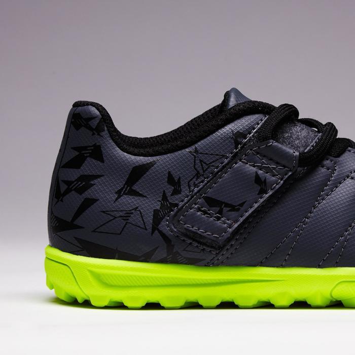 Chaussure de football enfant terrains durs Agility  300 HG à scratch bleue - 1352619