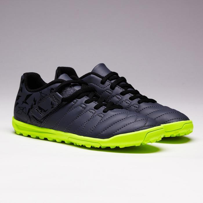 Chaussure de football enfant terrains durs Agility  300 HG à scratch bleue - 1352623
