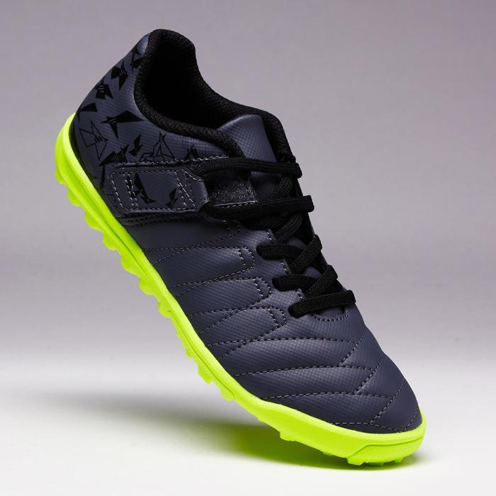 Chaussure de football enfant terrains durs Agility  300 HG à scratch bleue - 1352628