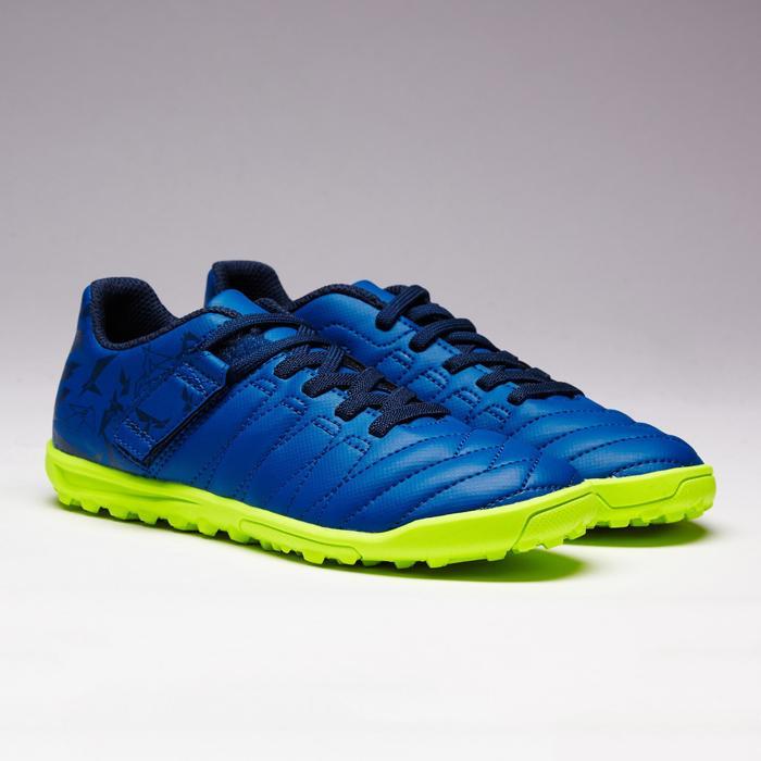 Chaussure de football enfant terrains durs Agility  300 HG à scratch bleue - 1352632