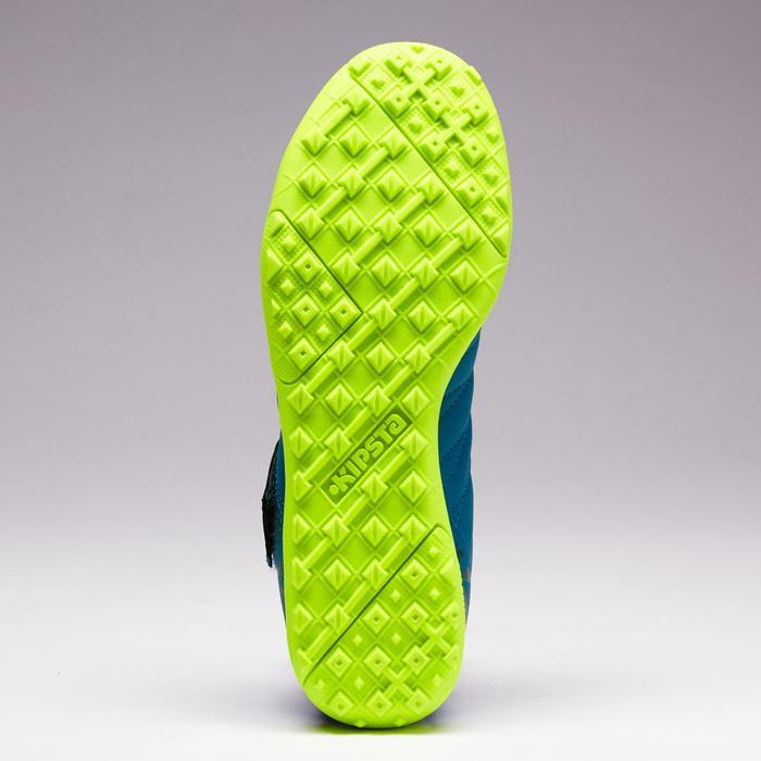 Chaussure de football à scratch enfant terrain dur Agility 140 HG bleu marine