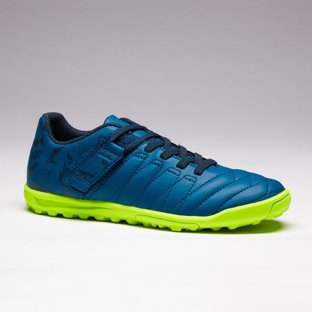 Agility 140 HG Kids' Hard Field Hook&Loop Soccer Shoes - Navy Blue