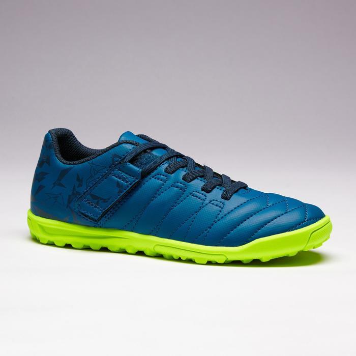 Chaussure de football enfant terrains durs Agility  300 HG à scratch bleue - 1352635