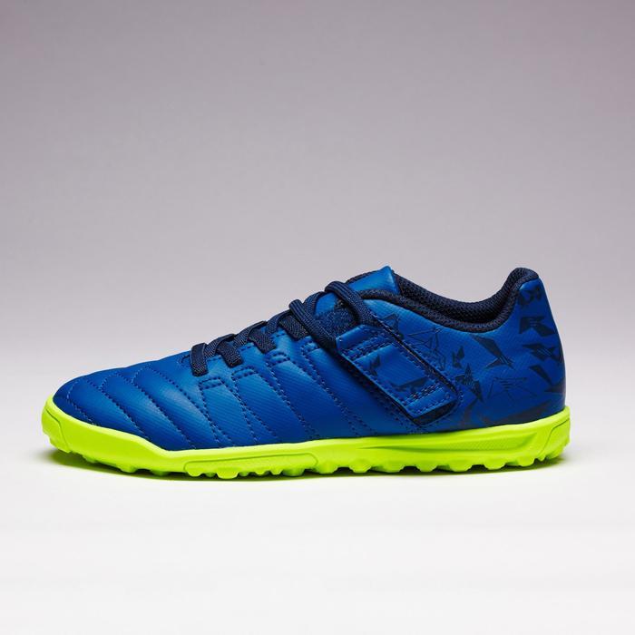 兒童款硬地魔鬼氈足球鞋Agility 140 HG-軍藍色