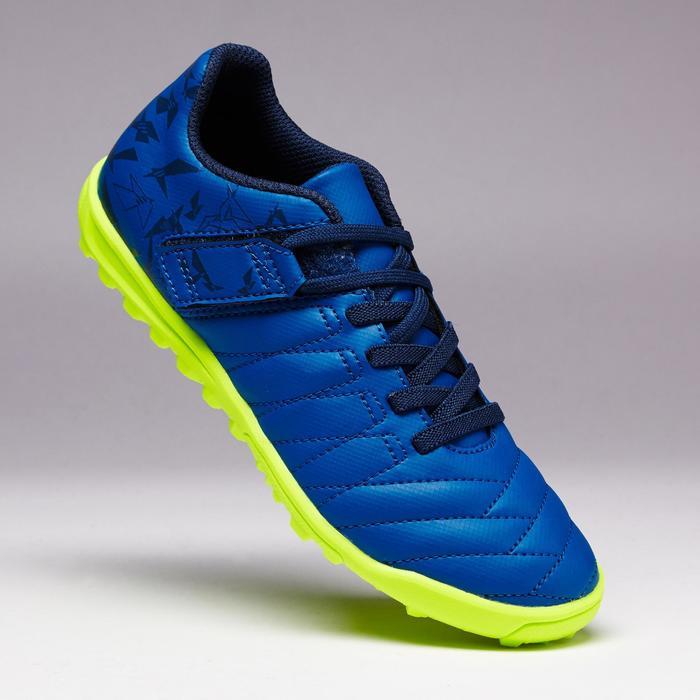 Chaussure de football enfant terrains durs Agility  300 HG à scratch bleue - 1352641