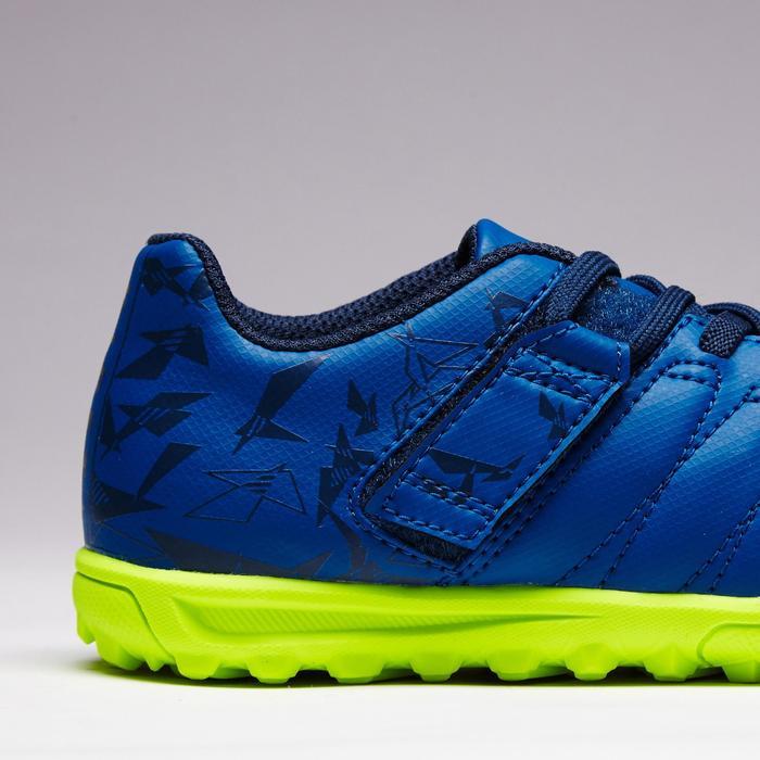 Chaussure de football enfant terrains durs Agility  300 HG à scratch bleue - 1352642