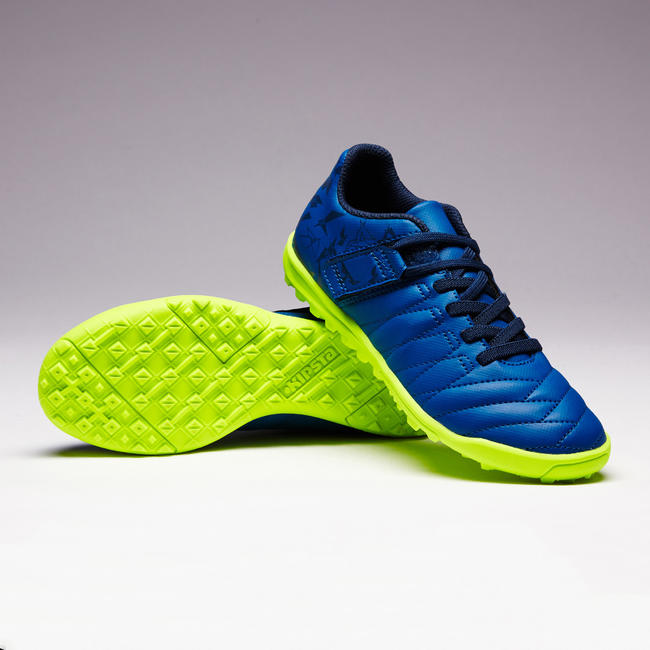 Agility 140 HG Kids' Hard Pitch Rip-Tab Football Boots - Navy Blue