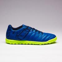 Chaussure de soccer autoagrippante enfant terrain dur Agilité 140 HG bleu marine