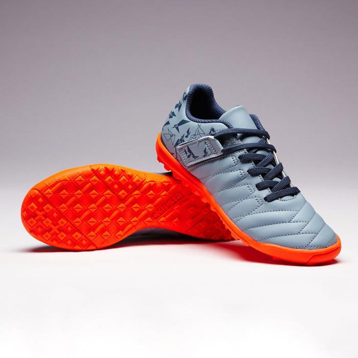 Chaussure de football enfant terrains durs Agility  300 HG à scratch bleue - 1352646